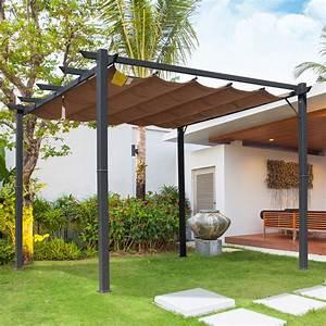 Pergola mit schiebedach pavillon terrassenuberdachung for Pavillon terrassenüberdachung