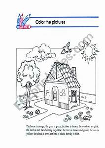 Color The Pictures According To Instructions
