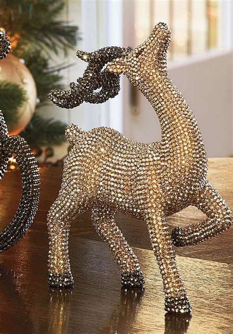 gold crystals twinkle  holiday decor