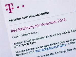 Telekom Rechnung Drucken : schutz vor falschen rechnungen telekom macht gegen phishing mobil n ~ Themetempest.com Abrechnung