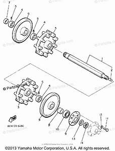 Yamaha Snowmobile 1988 Oem Parts Diagram For Track Drive 1