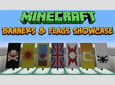 Minecraft 18 Banners & Flags Showcase & Tutorial YouTube
