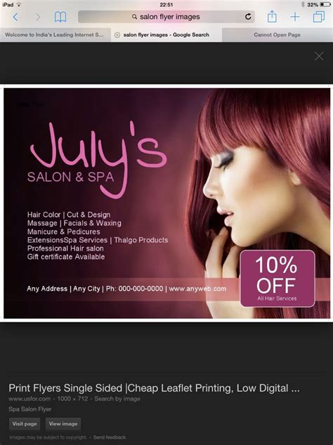 salon flyer images salon promotions beauty salon