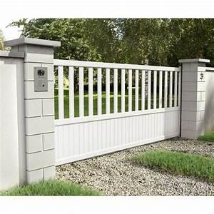 Portail Alu 3m : portail en aluminium blanc portail battant sur mesure ~ Melissatoandfro.com Idées de Décoration