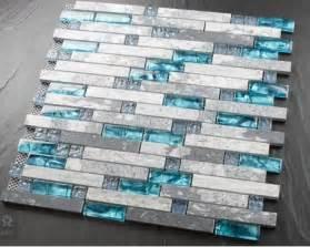 Mother Of Pearl Glass Subway Tile by Blue Shell Tile Glass Mosaic Kitchen Backsplash Tiles