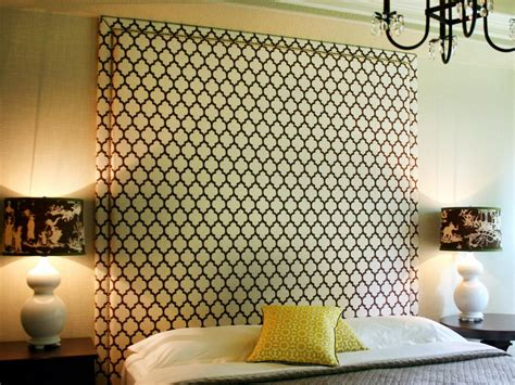 How To Make A Cloth Headboard by Upholstered Headboard With Nail Trim Hgtv