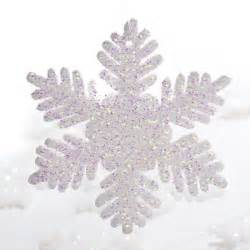 white glitter snowflake ornaments christmas ornaments christmas and winter holiday crafts