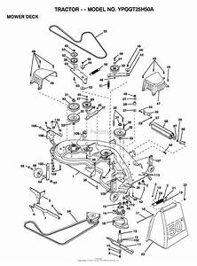 Ayp  Electrolux Ypqgt25h50a  1999  Parts Diagram For Mower Deck