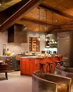 Rustic And Contemporary Interior Design By TruLinea Architects TG Interiors The New Country Kitchen Meets Industrial Rustic Kitchen Menu Pictures Home Designing Ideas Picture Kitchen With Beadboard Ceiling Cottage Kitchen McCoppin Studios