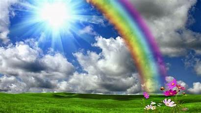 Rainbow Wallpapers Sun Nature Shining Sunshine Wallpapersafari