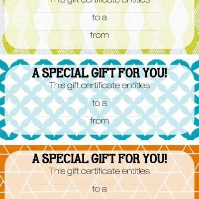 printable gift certificates images  pinterest