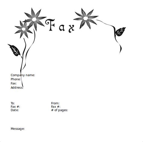 sample cute fax cover sheet templates   ms word