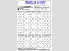 Bubble Sheet New Calendar Template Site