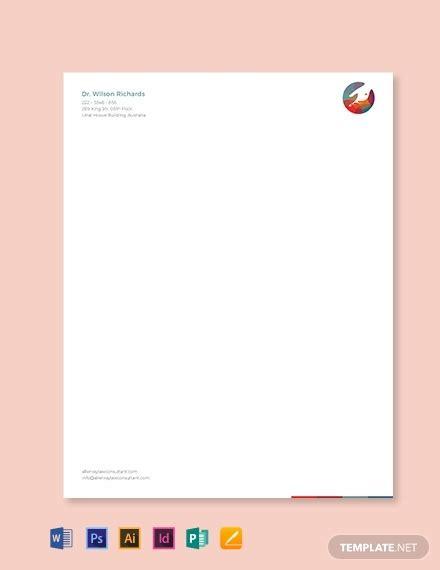 doctor letterhead format template