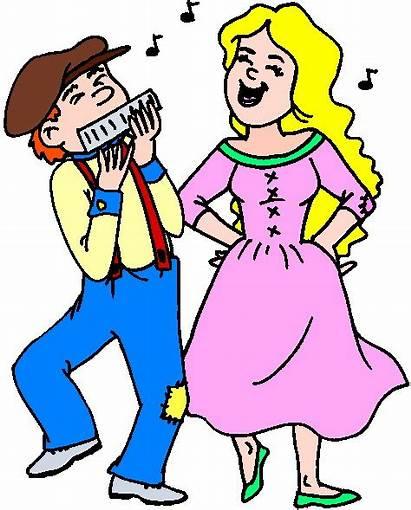Dancing Dance Clip Clipart Cliparts Couple Cartoon