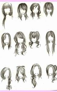 Chibi hairstyles | Chibi/Anime | Pinterest | Drawing hair ...
