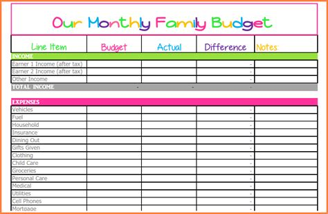 monthly bill spreadsheet template excel spreadsheets