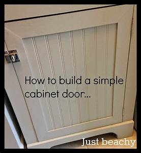 Diy tutorial how to build simple shaker style cabinet for How to make your own kitchen cabinet doors