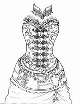 Coloring Steampunk Pages Corset Disco Panic Fairy Boudoir Adult Printable Colouring Dress Skull Drawing Butterfly Punk Drawings Etsy Mandala Getcolorings sketch template