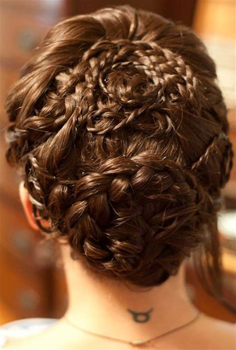 rope braided complicated prom hairstyles