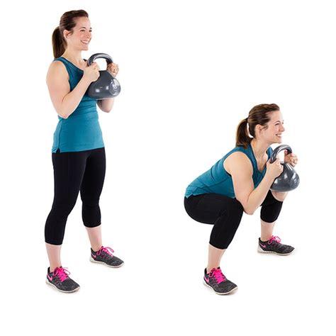 squat kettlebell oefeningen oefening uitleg athelio pile buikspieren thighs cellulite rid dumbells voordelen alle je