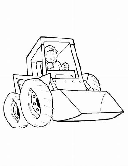 Coloring Construction Pages Equipment Site Heavy Printable