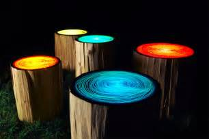tree ring lights by judson beaumont colossal