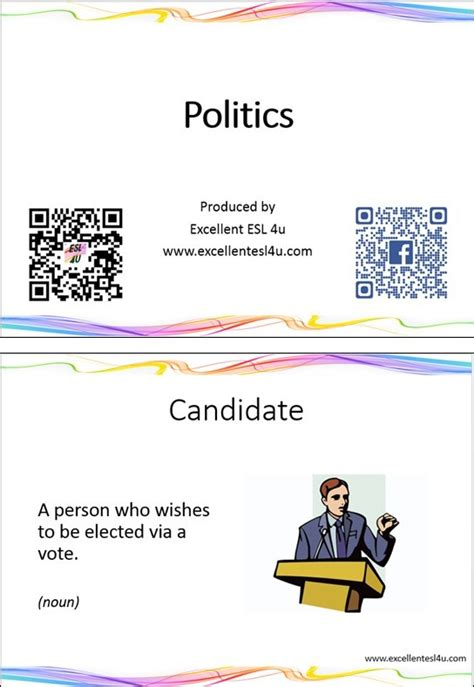 esl politics vocabulary