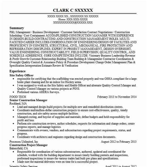 Workplace Health And Safety Officer Resume by Site Safety Officer Objectives Resume Objective Livecareer