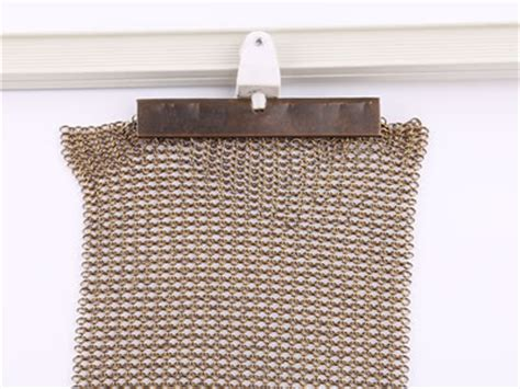 Chainmail Curtain Offers Ventilation And Good Lighting