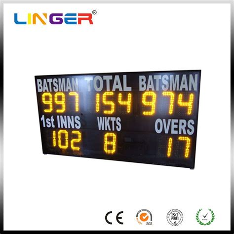 Yellow Electronic Cricket Scoreboard For School Message
