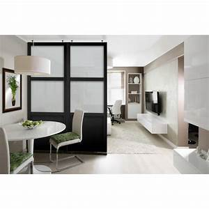 Kit Deco Porte Interieur : kit cloison amovible selene noire porte de placard ~ Melissatoandfro.com Idées de Décoration