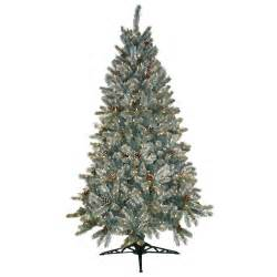general foam 6 5 ft pre lit siberian frosted pine artificial christmas tree with clear lights