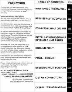 Suzuki Swift 1995 Wiring Diagram