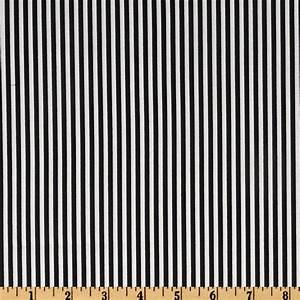 Timeless Treasures Stripes Black/White
