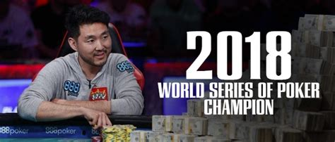 WSOP - 2018 - Main Event Champion John Cynn