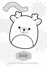 Coloring Squishmallows Ruby Printable Xcolorings Randy Sawyer Noncommercial Individual Only sketch template