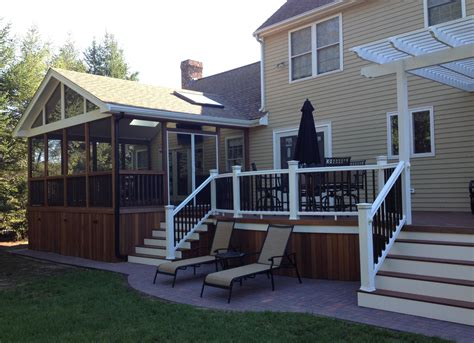deck design ideas with screened porch archadeck