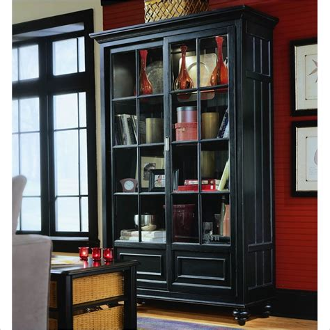 Bookcase China Cabinet by Camden Black Bookcase China Cabinet 919 588