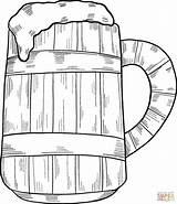 Coloring Beer Mug Pages Printable sketch template