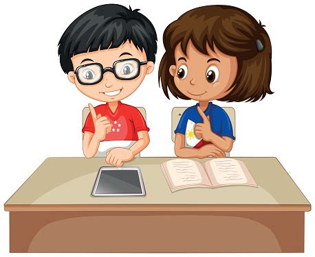 boy student working clipart students working together clipart free collection