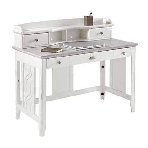 see jane work desk see jane work charlotte faux marble desk with hutch 39 h x