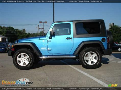 jeep grey blue 2010 jeep wrangler sport 4x4 surf blue pearl dark slate