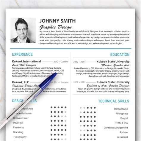 resume template  word  turquoise  orange