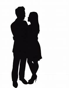 Silhouette Of Two People Kissing - ClipArt Best