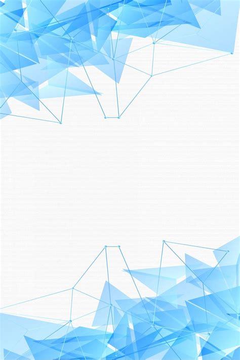 blue minimalist geometric block   poster