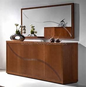 Buffet Avec Miroir : aparador com espelho ibiza ao melhor pre o s em moveis online ~ Teatrodelosmanantiales.com Idées de Décoration