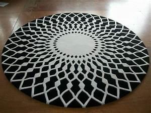Schwarz Weißer Teppich : runder teppich 30 neue vorschl ge ~ Orissabook.com Haus und Dekorationen