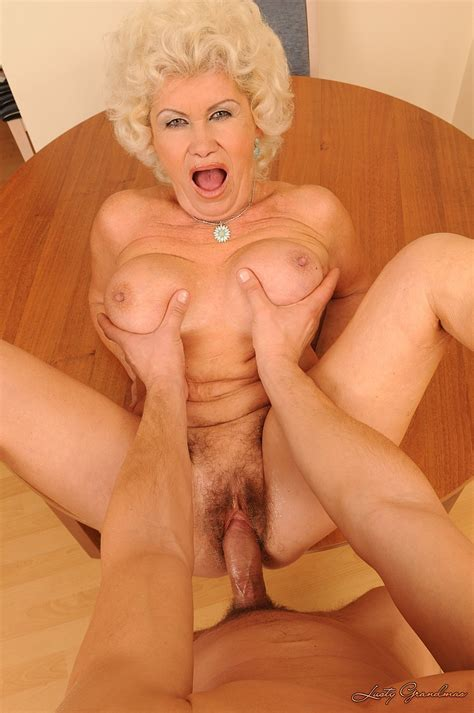big breasted granny effie takes stiff cock in her mouth and pussy from your perspective