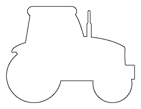 tractor template to print printable tractor template